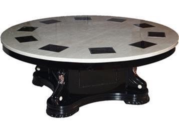 人造大理石台面实木一人一锅火锅桌