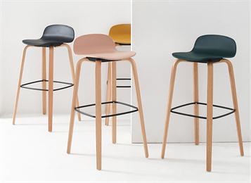 北欧现代简约实木吧台椅高吧椅创意高脚凳