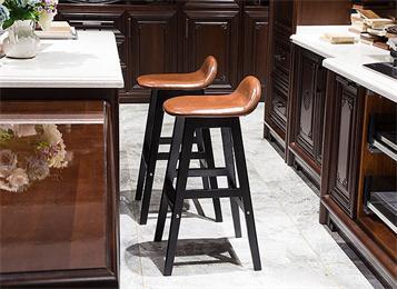 现代简约酒吧椅子欧式复古吧凳实木吧椅创意靠