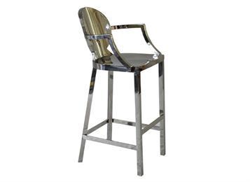 现代高档酒吧创意个性不锈钢酒吧椅