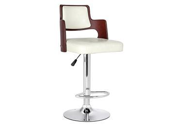 北欧风简约时尚不锈钢高脚靠背酒吧椅