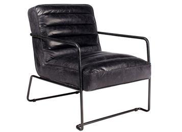 北欧风铁艺真皮软包咖啡厅休闲椅