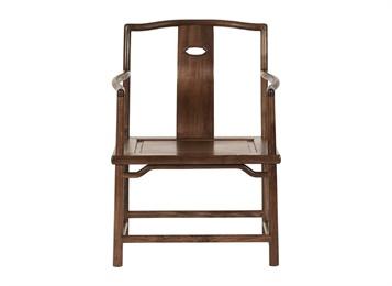中式休闲简约复古实木中餐厅椅子家具