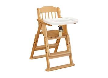 钱柜娱乐网站_酒店餐厅实木欧式BB餐椅 原木色宝宝吃饭椅