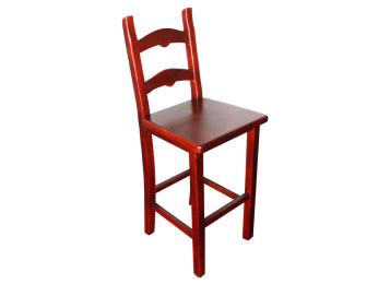 火烧实木仿古方形酒吧椅