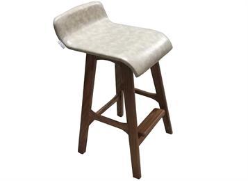 创意日式 实木酒吧台椅小靠背 高脚凳餐厅休闲椅