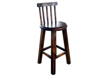 优质实木炭化酒吧椅