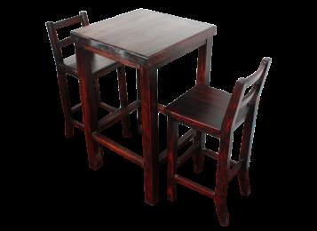 定制实木炭化酒吧台 炭烧椅