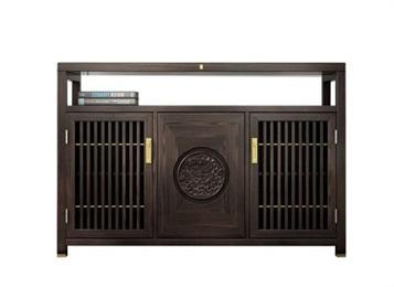 中式优质实木餐厅备餐柜