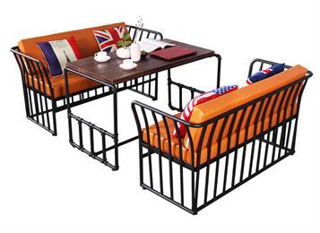 钱柜娱乐官方网站【首页】_北欧简约loft美式工业风复古铁艺沙发卡座桌椅组