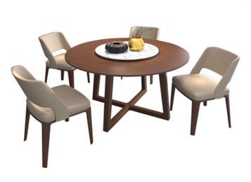 钱柜娱乐官方网站【首页】_北欧实木圆餐桌带转盘餐桌椅组合