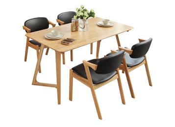 北欧风格全实木餐桌