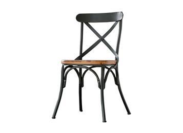 铁艺实木靠背椅