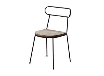 北欧铁艺餐椅靠背椅创意