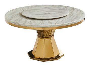 中式现代轻奢大理石餐桌