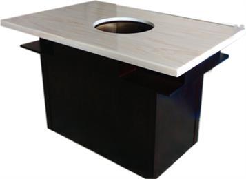 大理石台面实木桌脚电磁