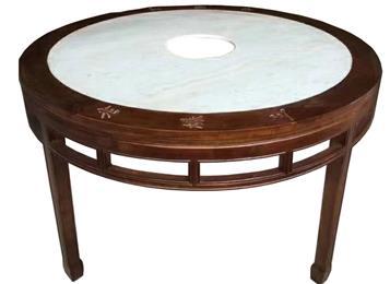 圆形大理石火锅桌仿古实