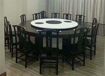 中式仿古圆桌15人16人旋