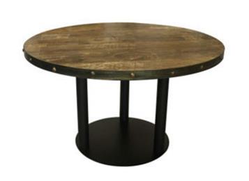 餐馆酒楼复古实木大圆桌