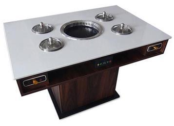 无烟净化大理石台面烧烤