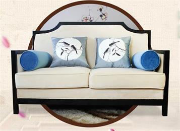 新中式禅意会所休闲沙发