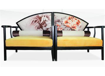 新中式禅意实木沙发