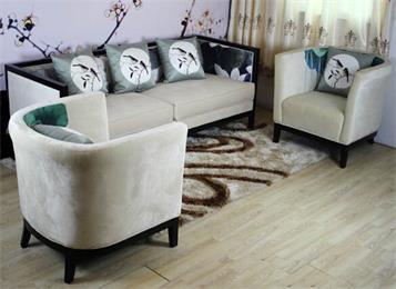 新中式家具 会所沙发组合 荷花禅意家具