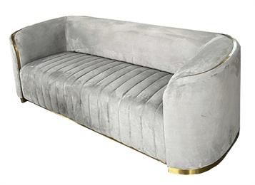 豪华会所大堂会客不锈钢轻奢沙发