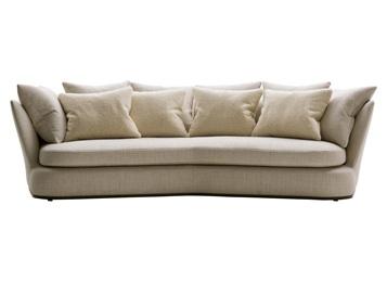 会所别墅休闲弧形意式科技布沙发