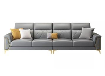 高级会所包房靠背可调节意式皮革沙发