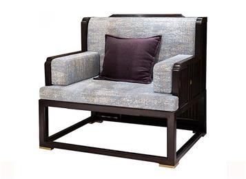新中式布艺会所沙发