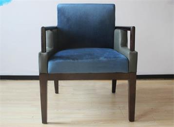 简约现代靠背椅 会所洽谈扶手椅软包