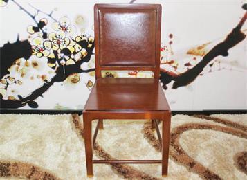 新中式软包靠背会所椅子