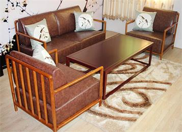 新中式实木会所桌椅组合