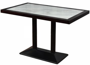 休闲会所实木大理石桌子