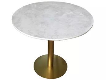 会所不锈钢大理石餐桌