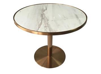 不锈钢会所餐桌大理石桌