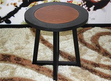 新中式实木圆形会所洽谈桌