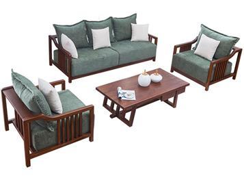 中式布艺沙发现代中式简约会所家具