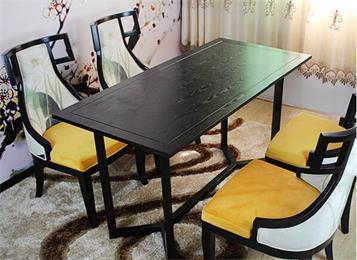 新中式家具 实木会所桌子