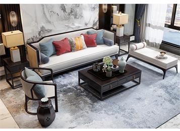 酒店会所高级新中式实木家具