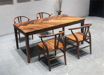 别墅会所仿古实木桌椅家具