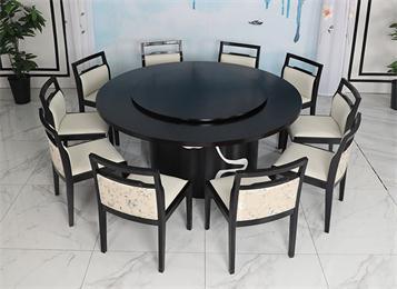 高档会所新中式桌椅家具