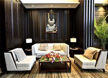 会所包间中式家具_酒店