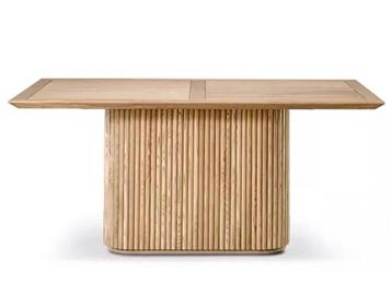 乡村风格会所简约实木桌