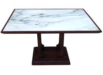 中餐厅酒楼会所新中式复古大理石餐桌简约实木