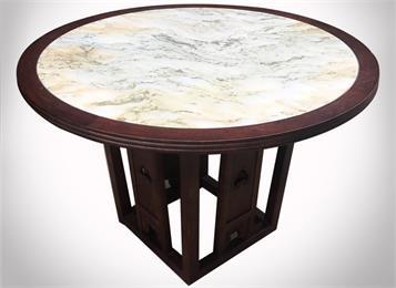 中餐厅酒楼会所包间新古典创意大理石圆桌