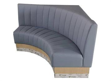 火锅餐厅皮革弧形卡座沙发