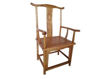 中式明清式仿古榆木火锅店官帽椅