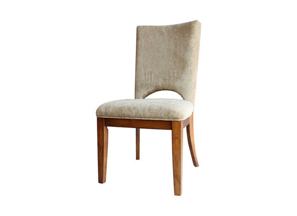 实木软包火锅椅子 布艺靠背椅 美式乡村火锅店餐